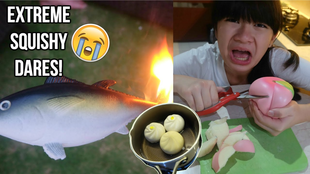 Squishy Dares To Do : Extreme Squishy Dares! : Cooking Edition - YouTube
