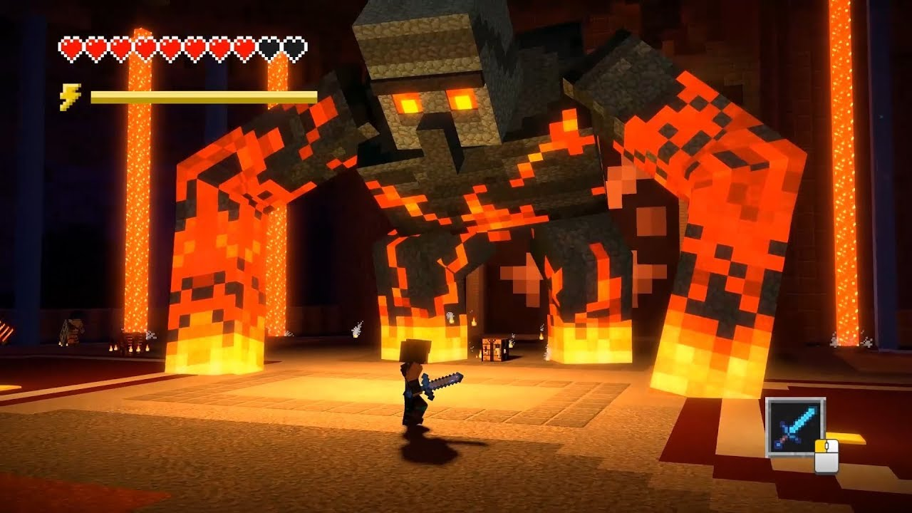 RAKSASA MAGMA GOLEM - Minecraft Story Mode Season 2 Episode 4 #4