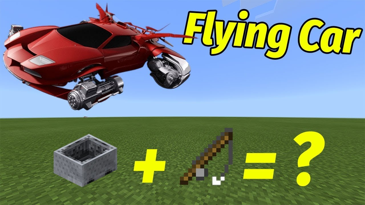 How To Make A Working Flying Car No Mod Addon Minecraft Pe