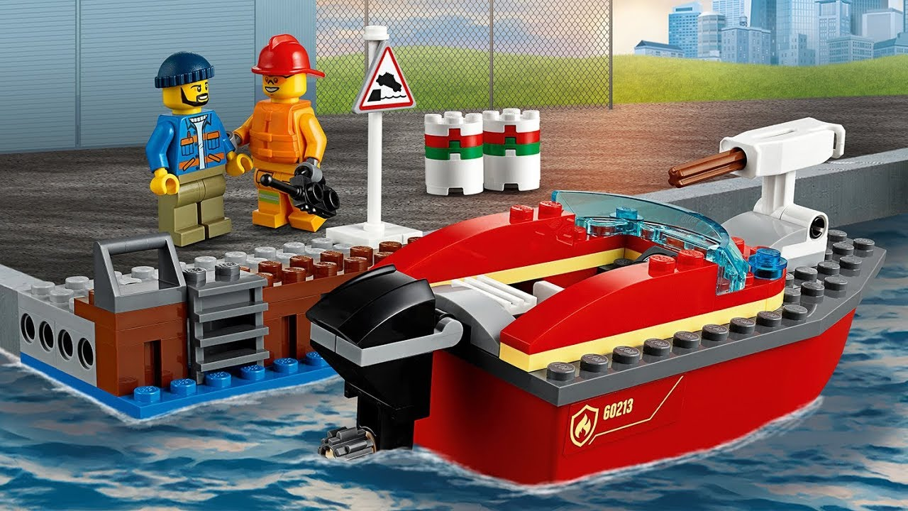 Lego City 60213 Dock Side Fire UNBOXING - YouTube