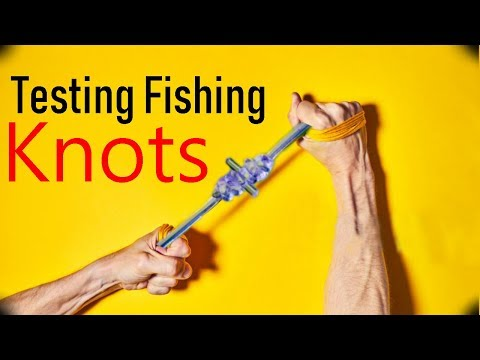 TESTING FISHING KNOT STRENGHS