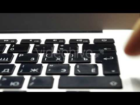 the Keyboard Pressing With One Finger.