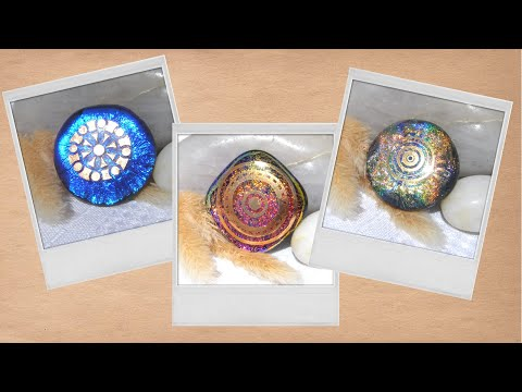 10.  Removing Decals On Fused Glass Dichroic Pendants And SURPRISE At End I Was Not Expecting