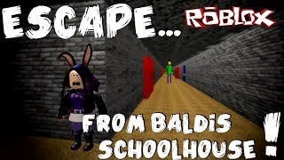 ROBLOX - Baldi's Basics: Escape... From Baldi's School House! [iOS Gameplay]