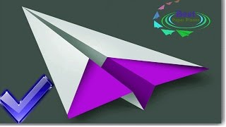 How to make a Paper Airplane -Sky King 2009 World Record Best Paper Airplane-3D Folding 🔥✅