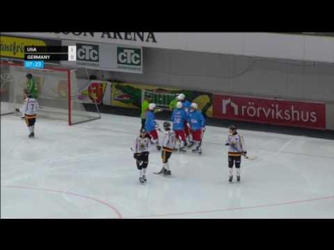 USA Bandy vs Germany 2017 VM Sandviken