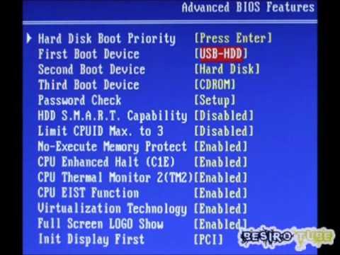 Configuración de Arranque de un Ordenador desde un CD/DVD