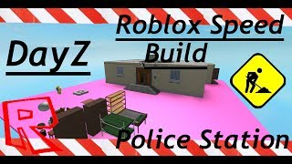 ROBLOX STUDIO SPEED BUILD / Police Station Part 1 / Dayz