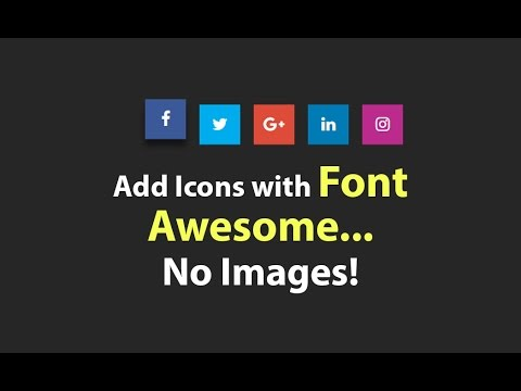 How To Add Social Media Icons Using Font Awesome - NO IMAGES - Plz SUBSCRIBE Us For Daily Videos