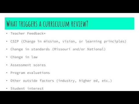 Curriculum Writing Process Proposal