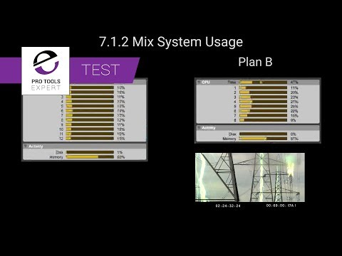 Comparison Test Two - System Usage While Playing A Busy 7.1.2 Feature Film Mix