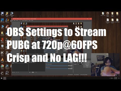 How to Stream PUBG 720p@60FPS [Simple OBS Settings Guide]