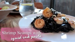 Shrimp Scampi with Squid Ink Pasta | Little Jozi