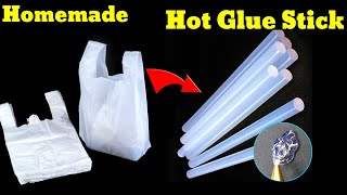 How to make homęmade glue gun stick making at home with plastic bag