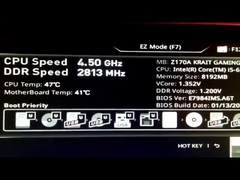 Overclocking Skylake Core-i5 6500 To 4.5ghz On MSI Z170A Krait Gaming Motherboard