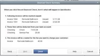 RPPC Inc - QuickBooks 2014 Recording Bounced Checks