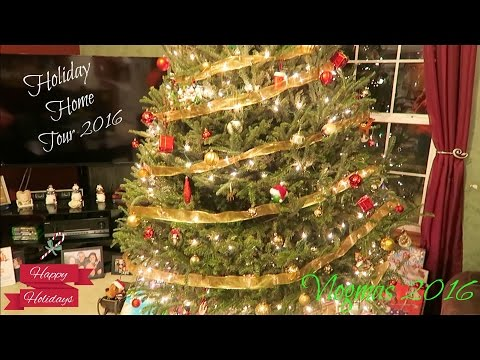 VLOGMAS 2016 DAY 21 - HOLIDAY HOME TOUR 2016!