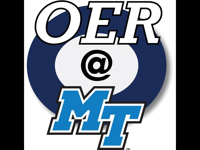MTSU Online - Introduction to OERs