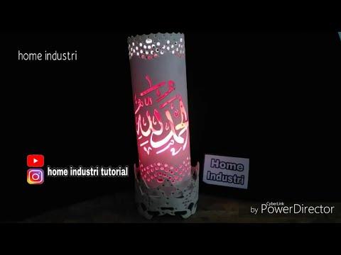 Cara membuat warna warni lampu hias pipa paralon mudah dan murah