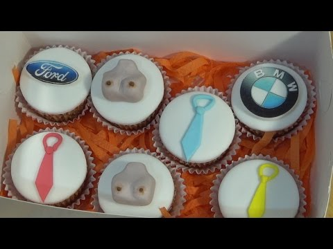 Капкейки для мужчины с начинкой / Cupcakes for men with the stuffing - Я - ТОРТодел!