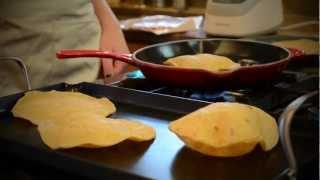 Roasted Halibut Tacos With Poblano Pesto And Tortillaland Corn Tortillas