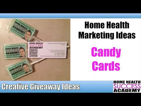 Home Health Marketing Giveaways Edible Business Cards Youtube