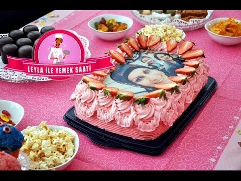Resimli ve Çilekli Doğum Günü Pastası Tarifi