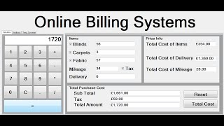 Creating online billing systems in visual basic.net how to create project, using if statement, events, keypress event, for loop, arithmetic ...