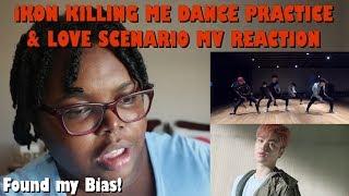 iKON Killing Me Dance Practice and Love Scenario MV Reactions [Found My Bias!]