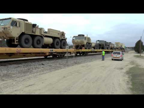 Military Train Departing Ft Bragg Chase