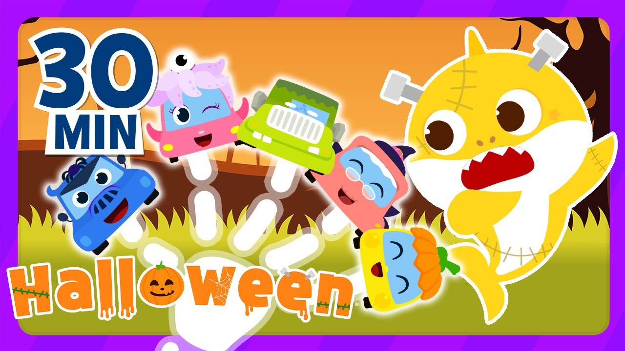 Let's play with the FINGERS and BREAK the ice!   Baby Shark Halloween    Finger Family   Colors