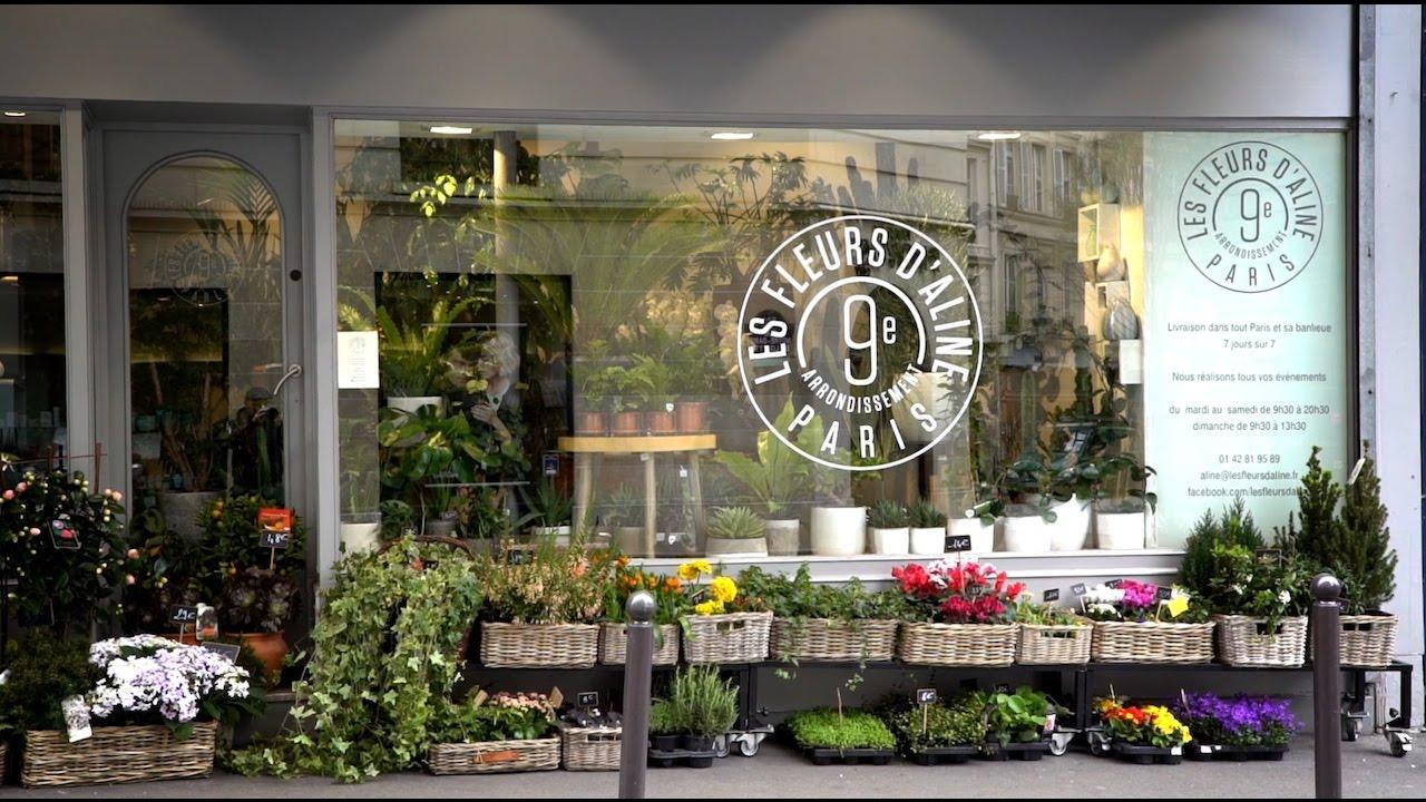 les fleurs d 39 aline fleuriste paris 9 me youtube. Black Bedroom Furniture Sets. Home Design Ideas