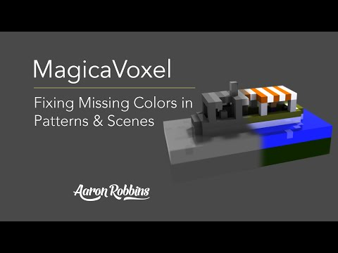 MagicaVoxel - Fixing Color Issues, Missing Palettes and Gray