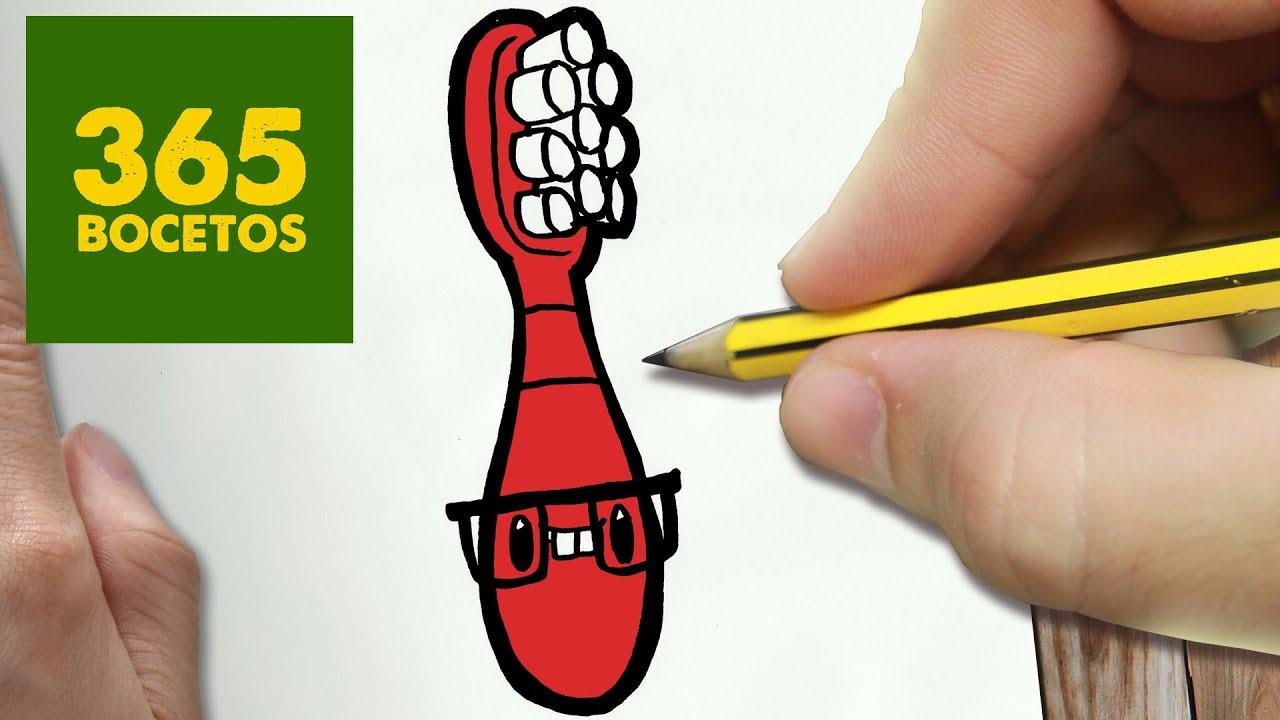 Como Dibujar Cepillo De Dientes Kawaii Paso A Paso Dibujos Kawaii