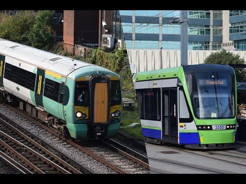 Trains and Trams at East Croydon