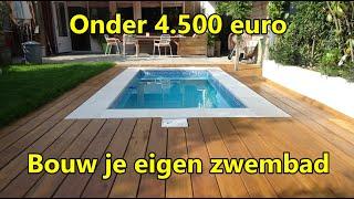 Bouw je eigen zwembad onder € 4.500 - Kosten en materialen