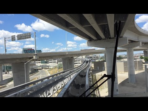 Toronto Pearson International Airport LINK Train Round Trip Time-lapse 7/3/16 (60 FPS)