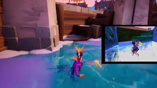 Spyro 2 Remaster: Ice skating speed comparison