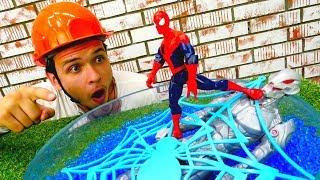 Человек Паук поймал Альтрона! Видео с супергероями для мальчиков
