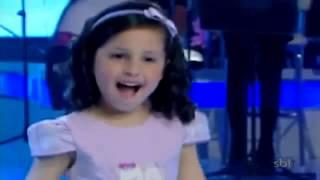 Milena Canta no Programa Raul Gil. A Minha Vida é do Mestre Vídeo