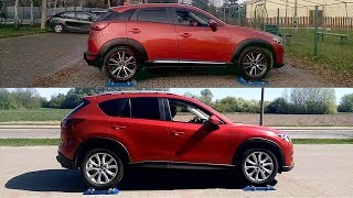 Mazda CX-3 AWD vs Mazda CX-5 AWD - 4x4 test on rollers