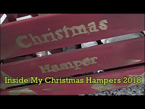 Inside My Christmas Hampers 2018