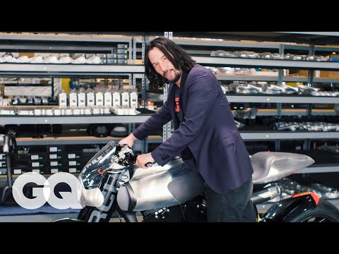 Watch Keanu Reeves show off his motorcycle collection