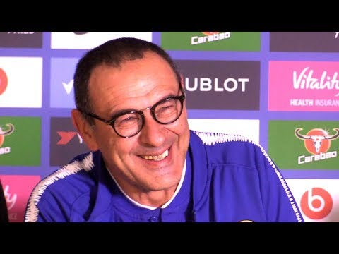 Chelsea 3-1 Crystal Palace - Maurizio Sarri Full Post Match Press Conference - Premier League