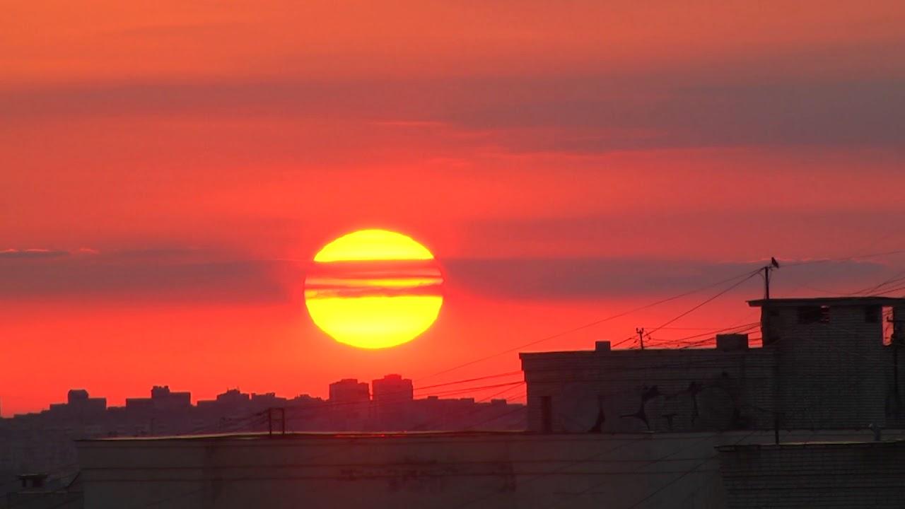 Восход солнца над городом Владимиром YouTube