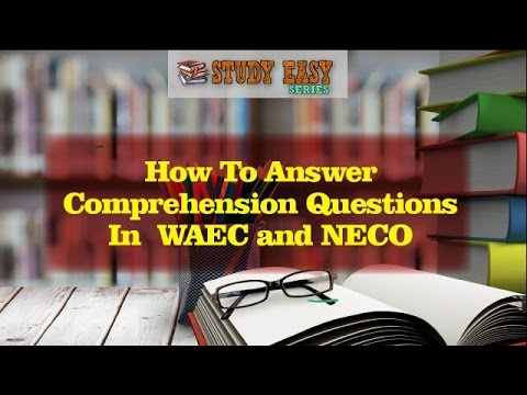 HOW TO ANSWER COMPREHENSION QUESTION- PART ONE