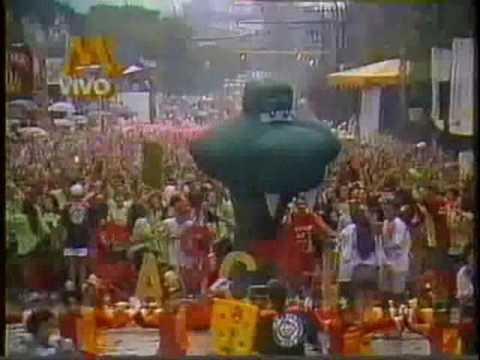 BLOCO CASCAVEL - DESFILE 1993 AO VIVO REDE MANCHETE. PARTE 3