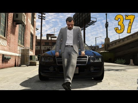 """Grand Theft Auto V Walkthrough - Part 37 """"The Big One!"""" (Let's Play, Playthrough)"""