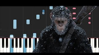 War for the planet of the Apes Soundtrack - Exodus Wounds (Piano Tutorial )