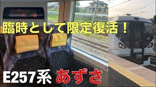 【グリーン車】元あずさE257系、臨時として限定復活した! 小淵沢→八王子